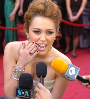 Picture of Miley Cyrus, photo by Sgt. Michael Connors
