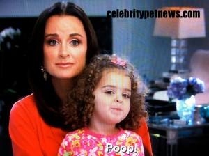 Photo of Kyle Richards Portia Poop CPN